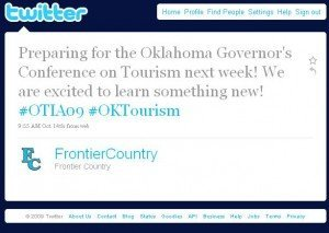Screenshot of an OTIA09 tweet