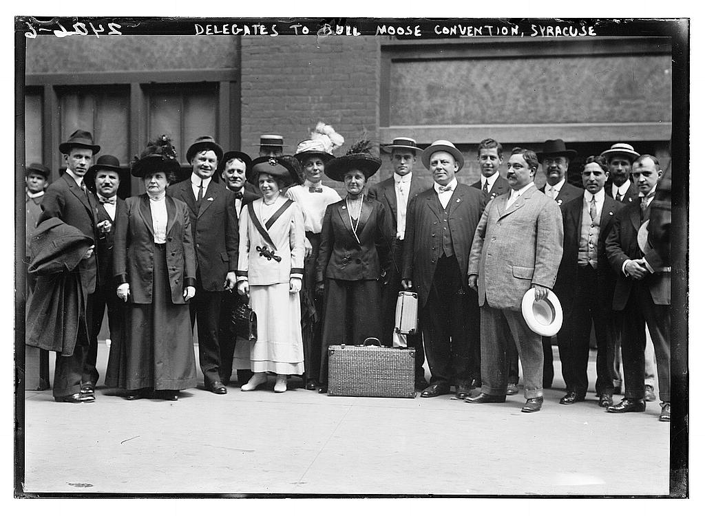Bull Moose delegates, Syracuse NY, circa 1910, Library of Congress on Flickr Commons