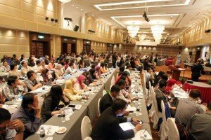 Crowd shot at MITBCA 2012 in Kuala Lumpur; many on this side of the room were tourism students (courtesy MITBCA on Facebook)