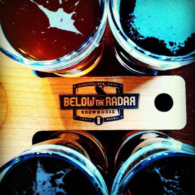 Beer flight at Below the Radar Brewing Company Huntsville AL (by theseafarer on Instagram)