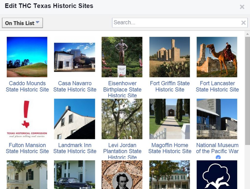 Screenshot of a Facebook Interests List we set up for some Tourism Currents clients. Very handy for tracking what folks were talking about on their Pages.