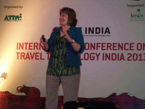 Sheila Scarborough speaks at ICTT India 2013 in Kovalam Kerala